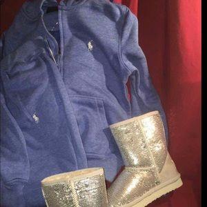Blue polo sweatsuit